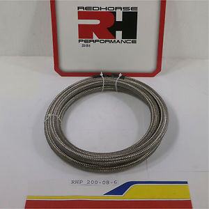 Red Horse Products 200-08-6 Braided Hose -08 PROSERIES 200 DOUBLE BRAIDED PR