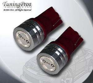 (1 Pair) Set of 2 pc Ignition Switch T10 High Power Red LED Light Bulb 168