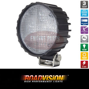 "LED FLOOD BEAM WORK UTILITY 4"" LIGHT 12-24V 1000 LUMENS 4X4 CAR BOAT TRUCK 4WD"