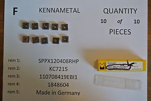 Kennametal sppx120408rhp Inserts