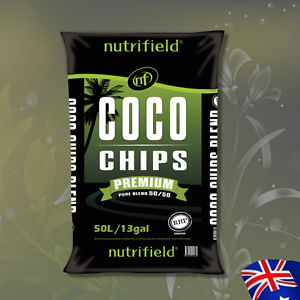 Hydroponics Nutrifield Coco Chips RHP CERTIFIED 50L 13Gal Organic Growing Medium