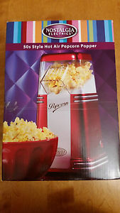 Retro Series 50s Style Hot Air Popcorn Popper Nostalgia Electrics Compact