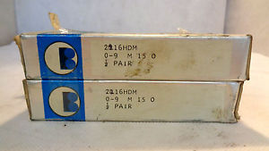 IN BOX SET OF (2) BARDEN 2216HDM  SUPER PRECISION BEARING