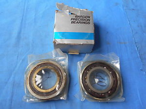 NOS PAIR OF SUPER PRECISION ANGULAR CONTACT BEARINGS thrust BARDEN USA 209HDH