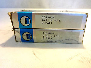 IN BOX BARDEN SET OF (2) 2214HDM ANGULAR CONTACT SUPER PRECISION BEARING