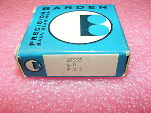 ONE  OLD STOCK BARDEN PRECISION BEARINGS 36SS5 G-6 F 2 I