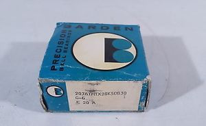 72X53X17  PAIR BARDEN  207FFX28  SPINDLE  BEARINGS 207ATMTX28K5DB30, G-6