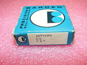 ONE  OLD STOCK BARDEN PRECISION BEARINGS 38FFTX2K5 G-6 F 9 T