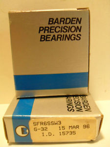 BARDEN PRECISION BEARINGS LOT OF 2 SFR6SSW3