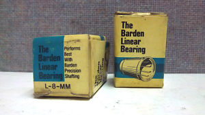 LOT OF 2 BARDEN LINEAR BEARINGS L-8-MM  L8MM