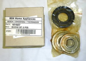 Genuine Bosch Thermador 181927 Washing Machine Drum Bearing & Washer Kit !