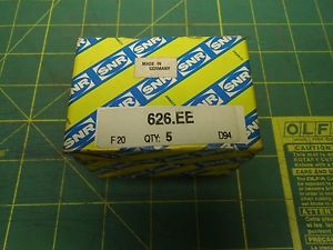 SNR SEALED BEARING 626.EE F20 D94 #J53061