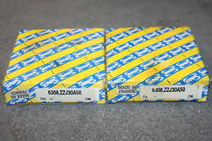 (Lot of 2) SNR 6308.ZZJ30A50 Shielded Deep Groove Bearings ZZ  *  *
