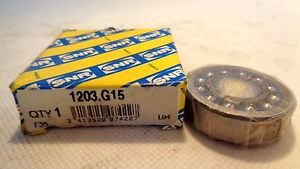 IN BOX SNR 1203.G15 SELF ALIGNING  BALL BEARING