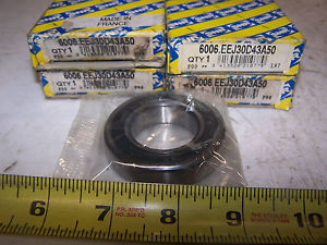 (4)  SNR 6006.EEJ30D43A50 55MM 30MM 1/2 IN BEARING LOT OF 4