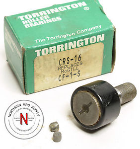 "TORRINGTON CRS-16 Cam Follower Bearing 1.00"" ROLLER (McGill CF-1-S Equivalent)"