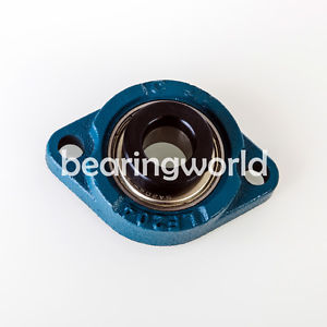 SALF204-20MM  High Quality 20mm Eccentric Locking Bearing with 2 Bolt Flange