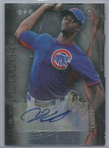 CARL EDWARDS, JR 2014 BOWMAN STERLING PROSPECT AUTO – CHICAGO CUBS' RHP