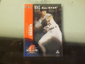 2014 Sebastian Vader #11 RHP SAL All Star Delmarva Shorebirds Baltimore Orioles