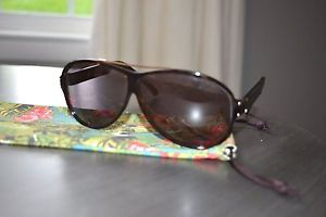 Yves Saint Laurent YSL 2354 /S RHP Y1 Sunglasses BROWN TORTOISE SHELL GOLD USED