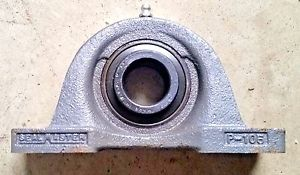 "Vintage Seal Master bearing Pillow-Block Shaft 1""1/8 Ball unit NP 18"