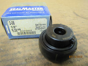 "Sealmaster Seal Master Insert Bearing 2-08 208 1/2"" Bore New"