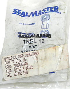 SEALMASTER TREL 12  ROD END BEARING 3/4IN ID, TREL12
