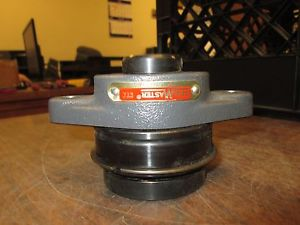 Sealmaster Flange Bearing w/ Insert SFT-16 / ER-22T Mounted 2-Bolt Used