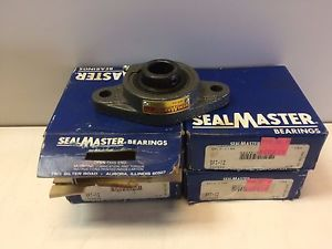 "LOT OF 4  OLD STOCK IN BOX 3/4"" SEALMASTER FLANGE MOUNT BEARINGS SFT-12"