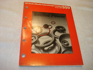 Sealed Power Oil Seal Master Interchange 1981